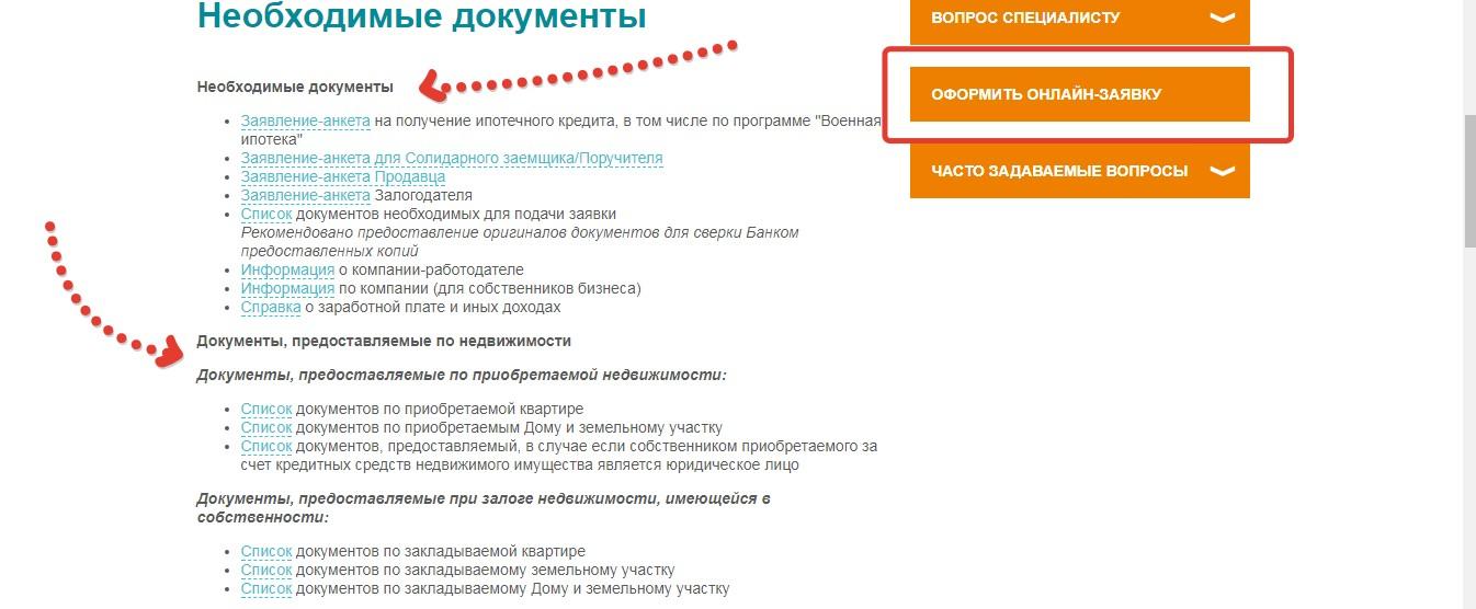 Какие документы нужны для оформления ипотеки в банке Зенит