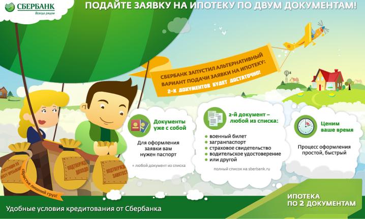 Какие документы нужны для оформления ипотеки в Сбербанке?